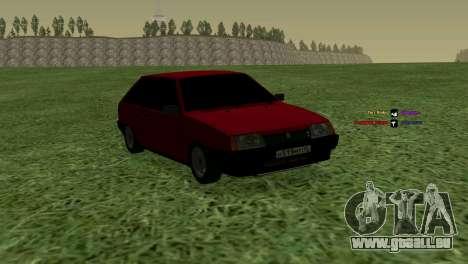 VAZ-2108 für GTA San Andreas Rückansicht