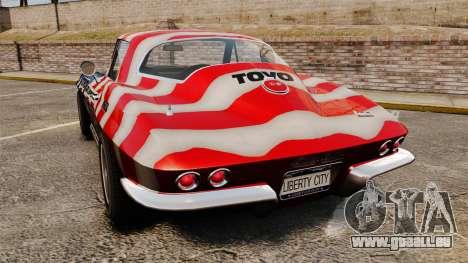 Chevrolet Corvette C2 1967 pour GTA 4 Vue arrière de la gauche