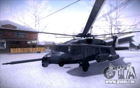 MH-X Silenthawk pour GTA San Andreas laissé vue