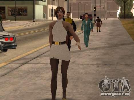 Mädchen im weißen Kleid für GTA San Andreas zweiten Screenshot