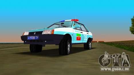 VAZ 21099 Miliz für GTA Vice City zurück linke Ansicht