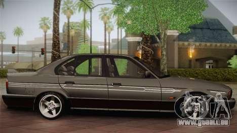 BMW E34 Alpina B10 pour GTA San Andreas laissé vue