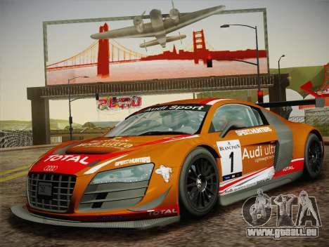 Audi R8 LMS Ultra W-Racing Team Vinyls für GTA San Andreas Seitenansicht