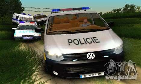 Volkswagen Transporter Policie pour GTA San Andreas vue intérieure
