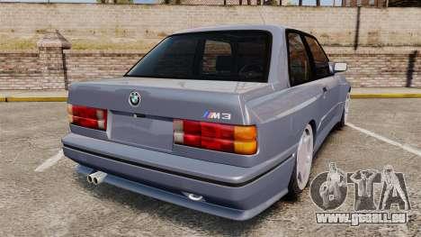 BMW M3 E30 pour GTA 4 Vue arrière de la gauche