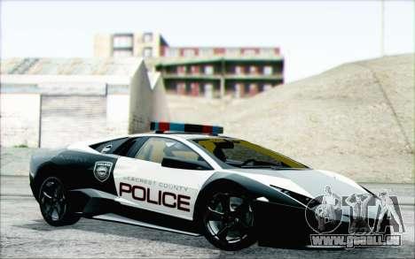 Lamborghini Reventon Police Car für GTA San Andreas