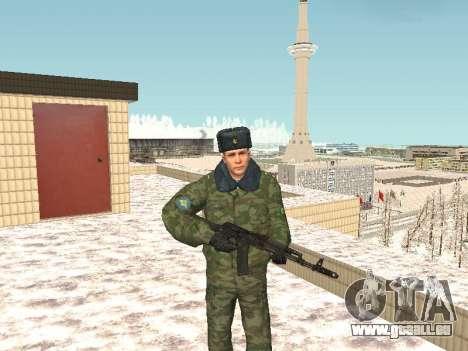 Des militaires en uniforme d'hiver pour GTA San Andreas