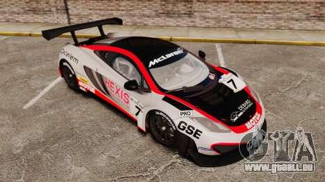 McLaren MP4-12C GT3 (Updated) für GTA 4 Innen