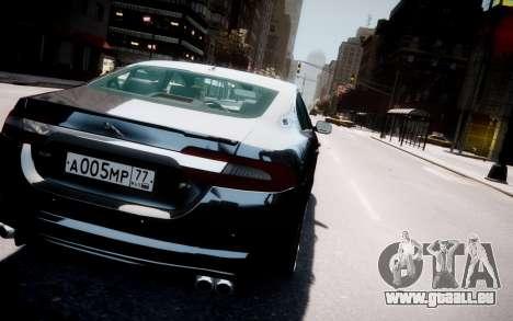 Jaguar XF-R 2012 v1.2 pour GTA 4 est une vue de dessous