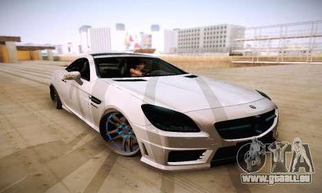 Mercedes Benz SLK55 AMG 2011 für GTA San Andreas Rückansicht