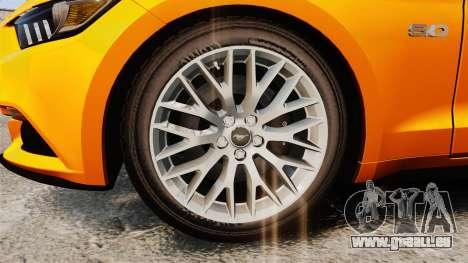 Ford Mustang GT 2015 v2.0 pour GTA 4 Vue arrière