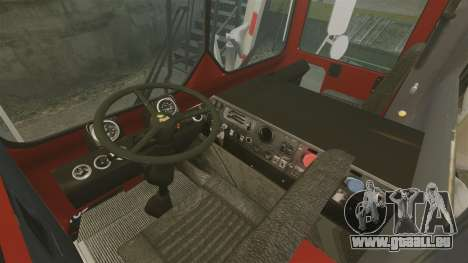 Mack MR 688S Front Load 2000 für GTA 4 Innenansicht