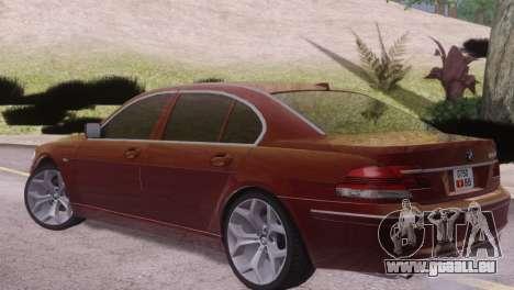 BMW 750Li E66 für GTA San Andreas rechten Ansicht