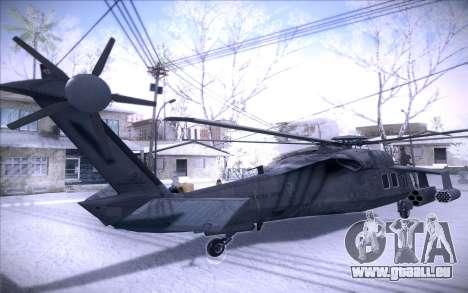 MH-X Silenthawk für GTA San Andreas zurück linke Ansicht