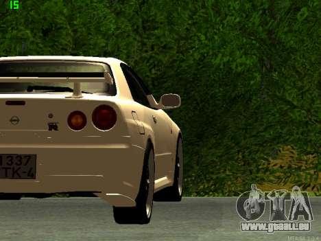 Nissan Skyline R34 GT-R für GTA San Andreas rechten Ansicht