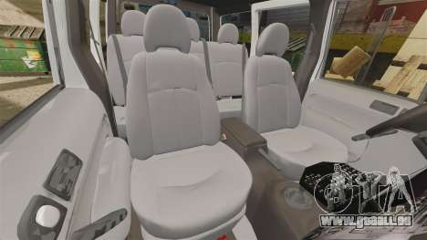 Ford Transit Connect Turkish Police [ELS] v2.0 pour GTA 4 est un côté