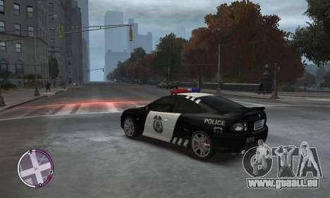 Holden Monaro CV8-R Police pour GTA 4 est une gauche