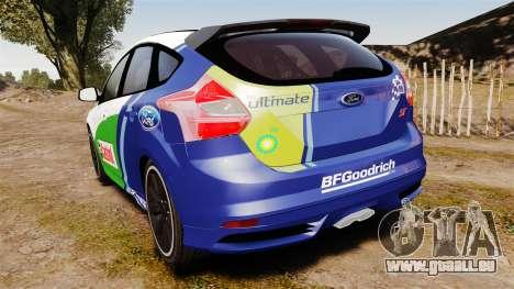 Ford Focus ST Rally pour GTA 4 Vue arrière de la gauche