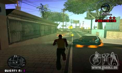 C-HUD Quentin pour GTA San Andreas cinquième écran