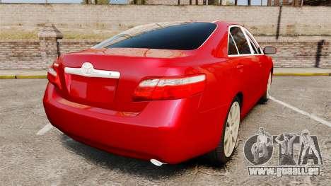 Toyota Camry pour GTA 4 Vue arrière de la gauche