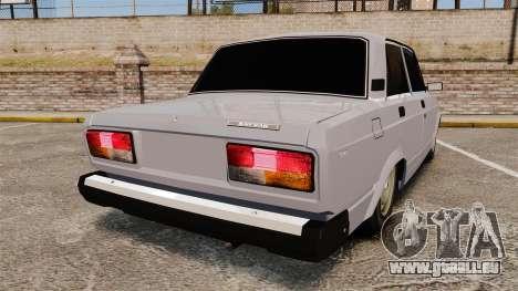 AIDE-Lada 2107 pour GTA 4 Vue arrière de la gauche