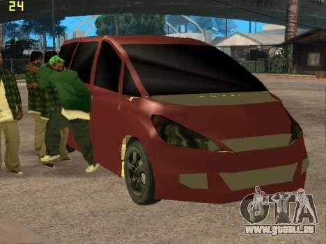 Toyota Estima 2wd pour GTA San Andreas vue arrière