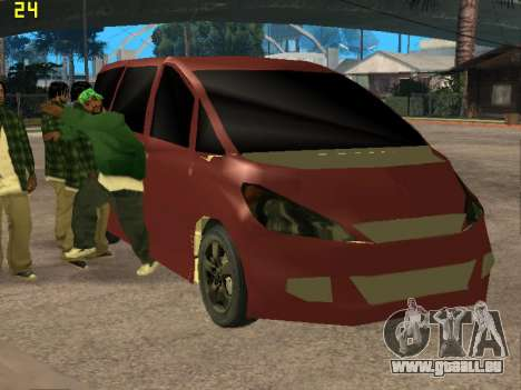 Toyota Estima 2wd für GTA San Andreas Rückansicht