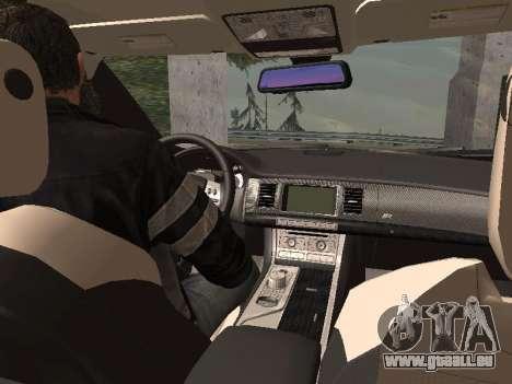 Jaguar XFR 2010 pour GTA San Andreas vue de droite