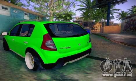 Dacia Sandero für GTA San Andreas zurück linke Ansicht