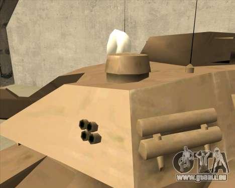 Rhino Mark.VI pour GTA San Andreas vue de droite
