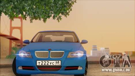 BMW 330i pour GTA San Andreas vue intérieure