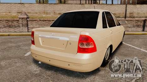ВАЗ-2170 Installé Avant pour GTA 4 Vue arrière de la gauche