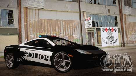 McLaren MP4-12C Police Car pour GTA San Andreas