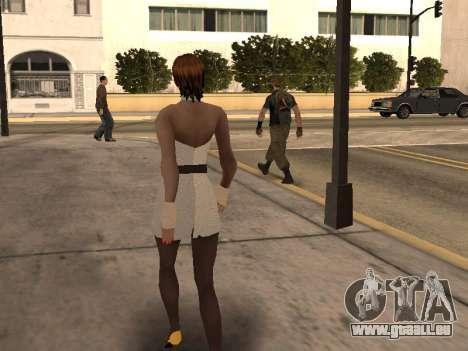 Mädchen im weißen Kleid für GTA San Andreas her Screenshot