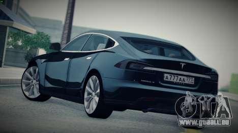 Tesla Model S für GTA San Andreas linke Ansicht