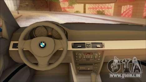 BMW 330i pour GTA San Andreas sur la vue arrière gauche