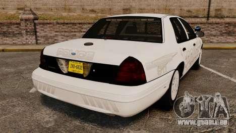 Ford Crown Victoria Traffic Enforcement [ELS] pour GTA 4 Vue arrière de la gauche