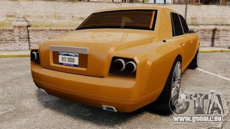 Super Diamond VIP pour GTA 4 Vue arrière de la gauche