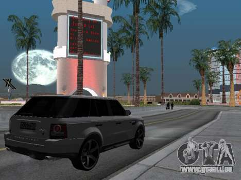 Range Rover Sport 2011 pour GTA San Andreas vue arrière