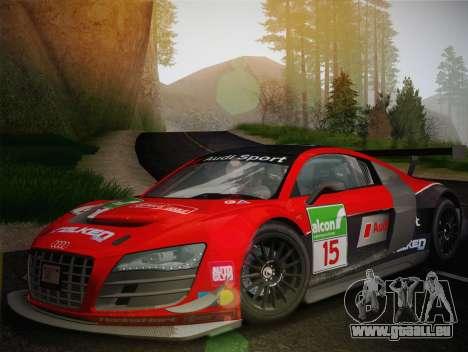 Audi R8 LMS Ultra Old Vinyls für GTA San Andreas Seitenansicht