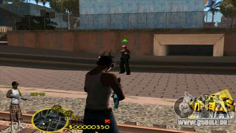 C-HUD Vagos by HARDy für GTA San Andreas dritten Screenshot
