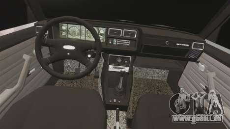 AIDE-Lada 2107 pour GTA 4 est une vue de l'intérieur