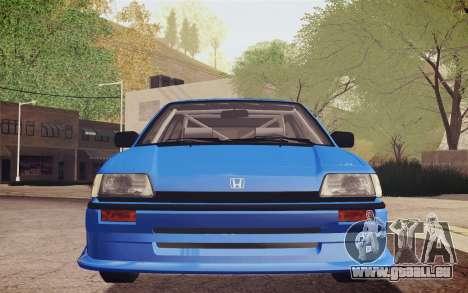 Honda Civic S 1986 IVF pour GTA San Andreas vue de côté