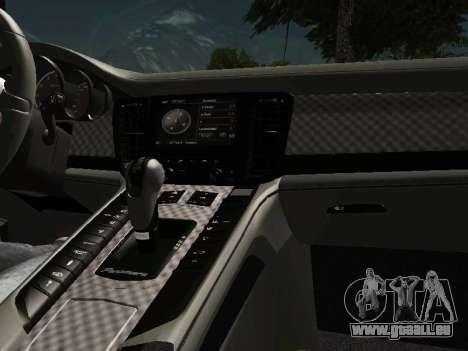 Porsche Panamera 2011 pour GTA San Andreas vue intérieure