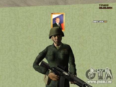 L'armée russe moderne pour GTA San Andreas cinquième écran