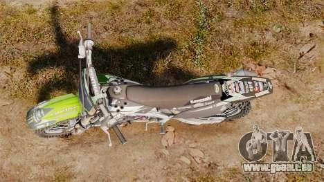 Kawasaki KX250F Monster Energy für GTA 4 rechte Ansicht