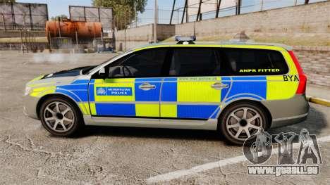 Volvo V70 ANPR Interceptor [ELS] für GTA 4 linke Ansicht