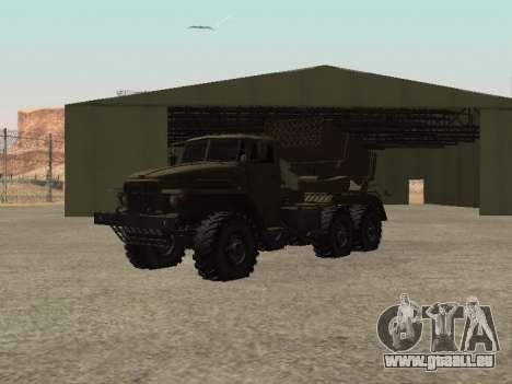 URAL 375 BM-21 pour GTA San Andreas vue de droite