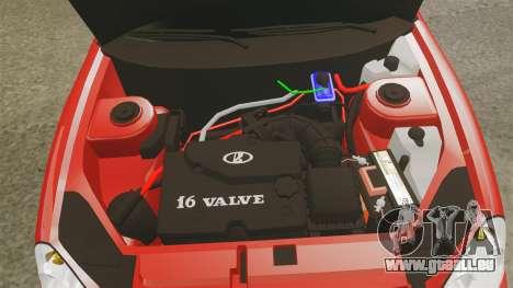 VAZ-2170 Dubaï pour GTA 4 est une vue de l'intérieur
