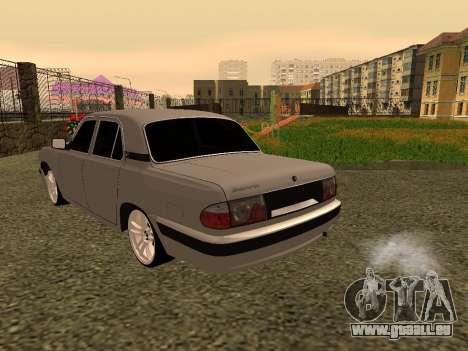 GAZ 31105 Wolga für GTA San Andreas rechten Ansicht